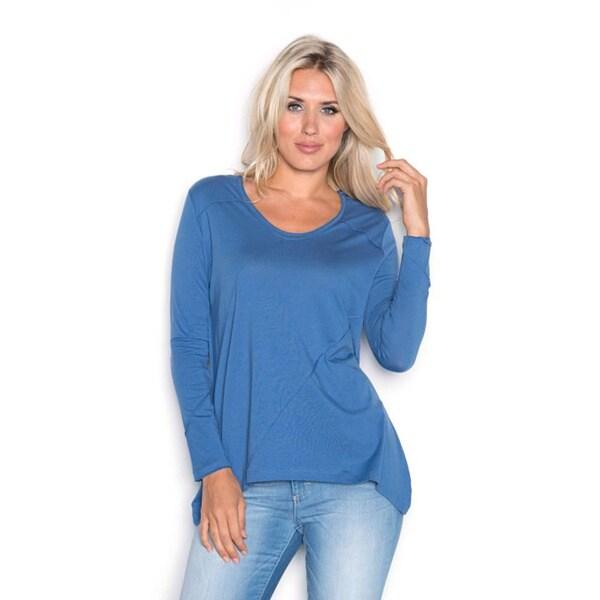 Beam Women's Blue Long Sleeve T-Shirt 18293239