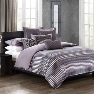 N Natori Abstract Stripe Cotton Duvet Cover Mini Set