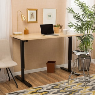 Christopher Knight Home Wendell 48-inch Adjustable Wood Standing Desk with Manual Base