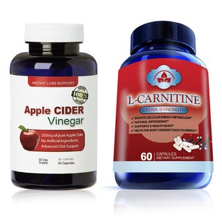 High Potency Apple Cider Vinegar and L-Carnitine Capsules (2-piece Set)