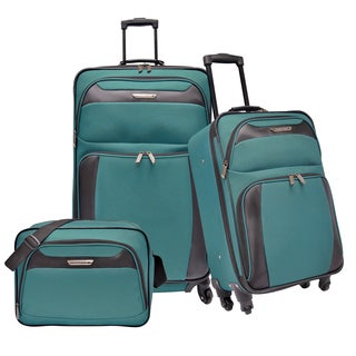 Traveler's Choice Richmond 3-piece Expandable Spinner Luggage Set in Teal