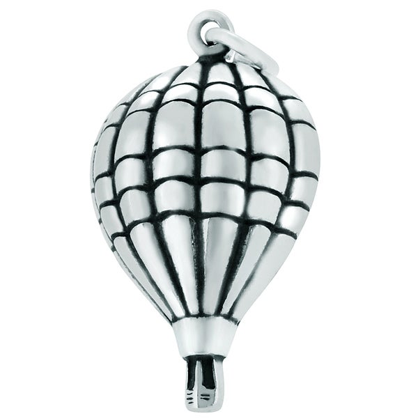Sterling Silver Hot Air Balloon Charm (24 x 15 mm)