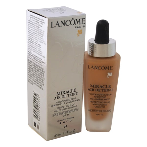 Lancome Miracle Air de Teint Perfecting Fluid Matte Glow Creator SPF 15 03 Beige Diaphane