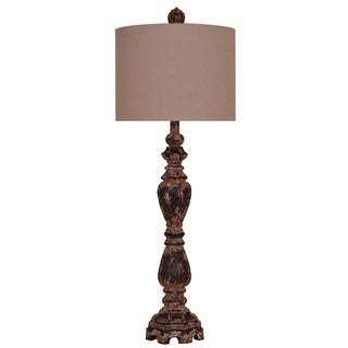 Crestview Collection 35.5-inch Toasted Silver Table Lamp