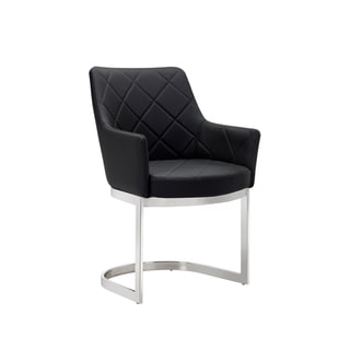 Sunpan CHASE CANTILEVER DINING CHAIR - BLACK