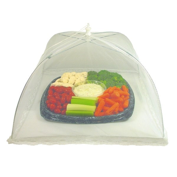 Mesh White Kitchen Food Nets (Set of 3)