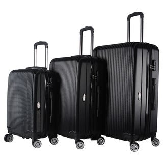 Brio Luggage 3-Piece Expandable Hardside Spinner Luggage Set