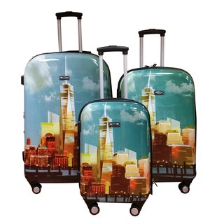 Kemyer World Series II Wide Body 3-piece Freedom Tower Hardside Spinner Luggage Set
