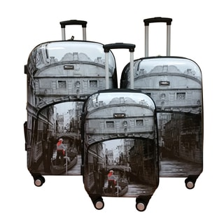 Kemyer World Series II Wide Body 3-piece Venice Inspired Hardside Spinner Luggage Set
