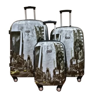 Kemyer World Series II Wide Body 3-piece Times Square Hardside Spinner Luggage Set
