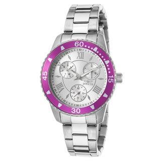 Invicta Women's Angel Stainless Steel Magenta Watch