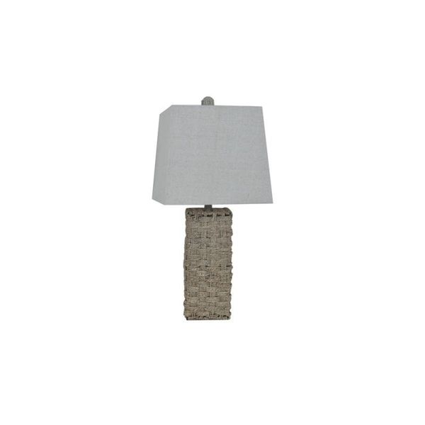 Crestview Collection 28.5-inch Natural Hemp Rope Table Lamp