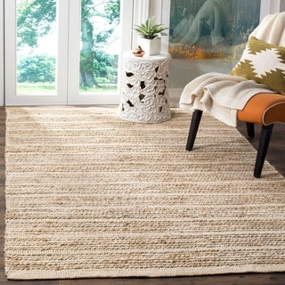 Safavieh Hand-Woven Cape Cod Natural/ Ivory Cotton Rug (8' x 10')