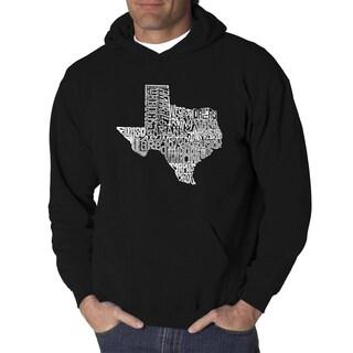 LA Pop Art Men's Texas State Hooded Sweatshirt