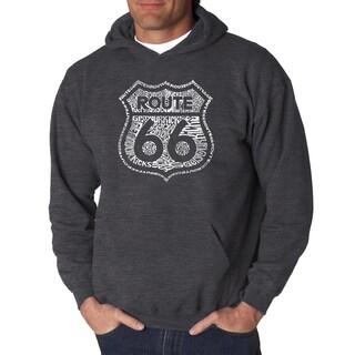 LA Pop Art Men's Kicks on Route 66 Hooded Sweatshirt