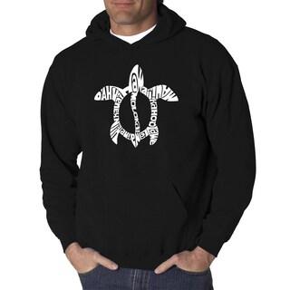 LA Pop Art Men's Honu Turtle Hooded Sweatshirt