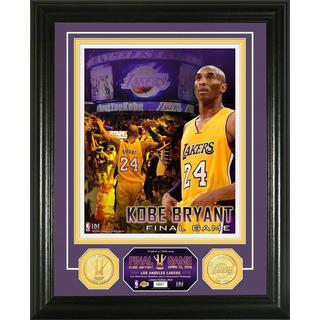 "Kobe Bryant ""Final Game"" Commemorative Bronze Coin Photo Mint"