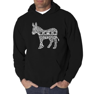 LA Pop Art Men's Vote Democrat Hooded Sweatshirt