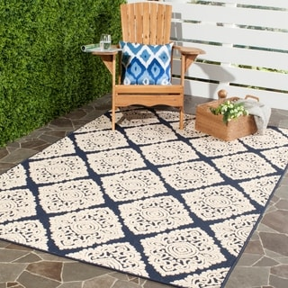 Safavieh Cottage Navy/ Cream Rug (9' x 12')
