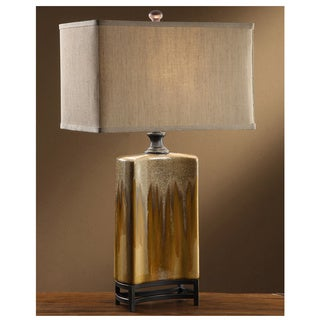 Crestview Collection 33.5-inch Ceramic Green Goddis Table Lamp