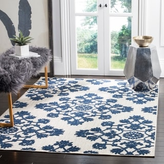 Safavieh Cottage Light Grey/ Royal Blue Rug (9' x 12')