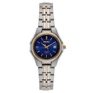 Seiko Women's Two-tone Stainless Steel Solar Powered Watch