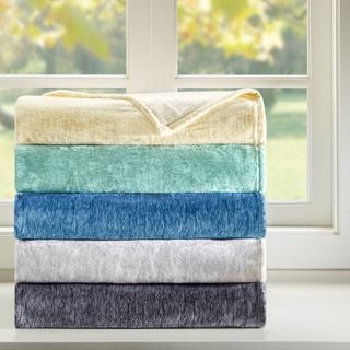 Intelligent Design Melange Plush Blanket 5-Color Option