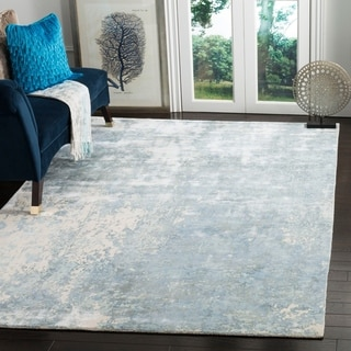 Safavieh Hand-knotted Mirage Watercolor Vintage Aqua Wool Rug (8' x 10')