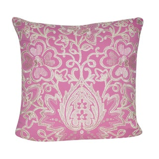 Loom and Mill 22-inch Paisley Flower Decorative Pillow