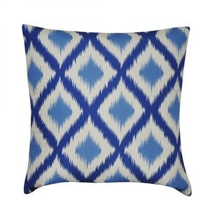 Loom and Mill 22-inch Ikat Diamonds Decorative Pillow