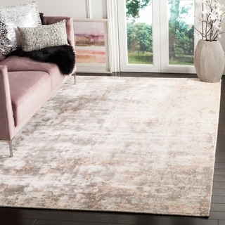 Safavieh Hand-knotted Mirage Watercolor Vintage Pink Wool Rug (9' x 12')