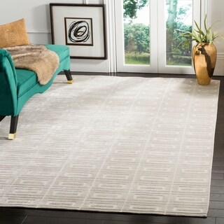 Safavieh Hand-knotted Mirage Silver Wool Rug (10' x 14')