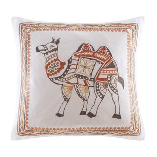 INK+IVY Dustin Embroidered Cotton Decorative Pillow