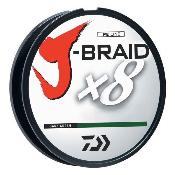 Daiwa J-Braid Fishing Line, Dark Green