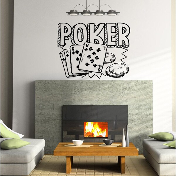 Poker Playing Cards Wall Art Sticker Decal