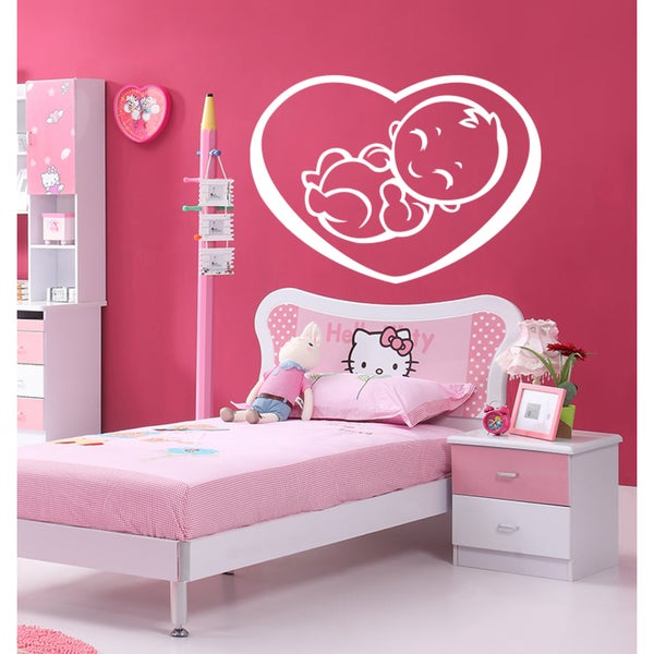 The kid in the heart Wall Art Sticker Decal White