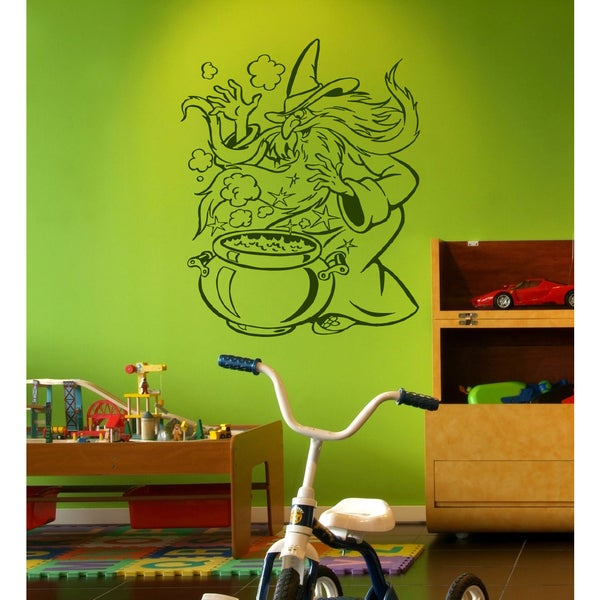 The evil wizard Wall Art Sticker Decal Green