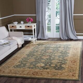 Safavieh Handmade Antiquity Teal Blue/ Taupe Wool Rug (7' 6 x 9' 6)