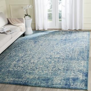 Safavieh Evoke Blue/ Ivory Rug (8' x 10')