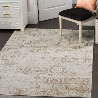 Safavieh Artifact Grey/ Cream Rug (6' 7 x 9' 2)
