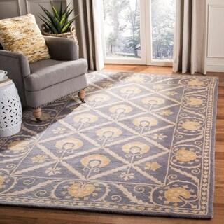 Safavieh Handmade Bella Blue/ Gold Wool Rug (8' x 10')