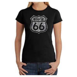 LA Pop Art Women's Kicks on Route 66 T-Shirt 18298617