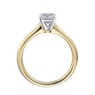 14k Gold 1 1/10ct TDW Princess-cut Diamond GIA Certified Engagement Ring (I-J, VS1-VS2)