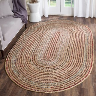Safavieh Hand-Woven Cape Cod Natural/ Multi Cotton Rug (9' x 12')