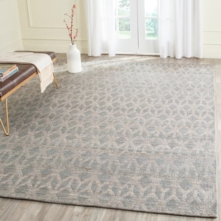 Safavieh Hand-Woven Cape Cod Grey/ Gold Cotton Rug (9' x 12')