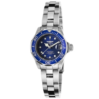 Invicta Women's Pro Diver Stainless Steel Blue Dial Watch