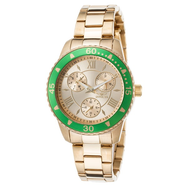 Invicta Women's Angel 18K Gold Plated Steel Gold-Tone Dial Watch