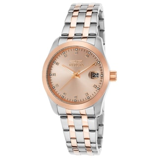 Invicta Women's Wildflower Stainless Steel and Rose-Tone Dial Watch