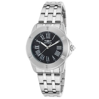 Invicta Women's Specialty Stainless Steel Black Dial Watch