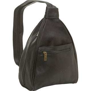 LeDonne Leather Women's Leather Convertible Sling Strap Backpack